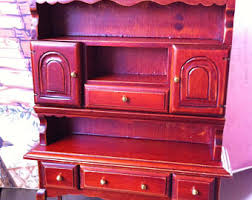 Mini Furniture Scale 1 Or 12 Early American Hutch Dinning Room Piece Sideboard Could Be Desk