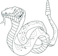 Coloring Pages Of Snakes Free Pictures A Snake