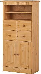 loft24 midischrank hochschrank badschrank badezimmer badmöbel landhaus kiefer massivholz gebeizt geölt 60x30x120 cm