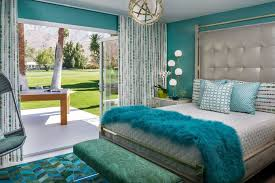 Bedroom In Teal And Gold Bedroom Contemporary With Coral Teal And