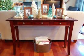 Narrow Sofa Table With Drawers by Sofa Table Design Sofa Table Christmas Decorating Ideas Red Maple