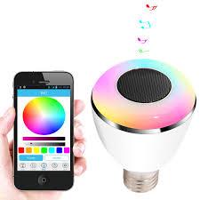 bl08a smart led blub light wireless bluetooth speaker led