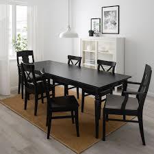 ingatorp ingolf tisch und 6 stühle schwarz nolhaga grau