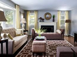 Brown Couch Decorating Ideas by Living Room Gray Sofa Brown Wooden Dresser Grey Cushions White
