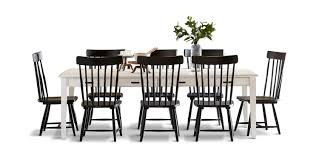 Keeping Table With 8 Spindle Dining Chairs | HOM Furniture