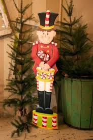 Candy Land Soldier With Drum Nut CrackerChristmas CandyRustic
