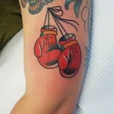 Boxing Gloves Tattoo Done By Fabian Bidart Sunsettattoo Sunsettattooconz