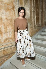 Miroslava Duma Twists A Modest Look To Stylish Elegance By Wearing Blouse And Floral