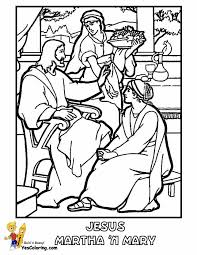 Bible Coloring Jesus Martha And Mary