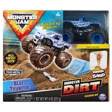 100 Blue Monster Truck Jam Thunder Dirt Starter Set Featuring 8oz Of