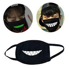 Funny Halloween Half Masks by Amazon Com Mouth Mask Didadi 2 Pcs Funny Green Glow Teeth