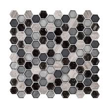 Versailles Tile Pattern Template by Instant Mosaic Peel And Stick Pure White 12 In X 12 In X 6 Mm