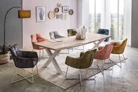 premium collection by home affaire esstisch manhattan mit massivholzplatte akazie lackiert baumkantentisch im landhaus stil baumstammtisch mit