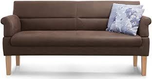 cavadore 3 sitzer sofa mit federkern sitzbank für küche esszimmer inkl armteilfunktion 189 x 94 x 81 kunstleder braun