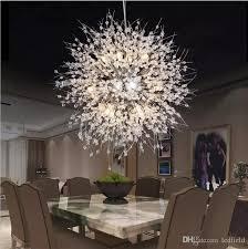 Modern Dandelion LED Ceiling Light Crystal Chandeliers Lighting Globe Ball Pendant Lamp For Dining Room Bedroom Living Fixture