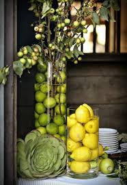 Love The Idea Of Using Food Items For Decor These Would Look Great On A Lime CenterpieceFruit CenterpiecesKitchen