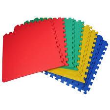 Exercise Floor by 60 X 60 Cm Multicolour Interlocking Eva Soft Foam Exercise Floor