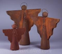 Beautiful Faux Rust Angel Craft For Christmas