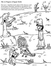 Free Printable The 10 Plagues Of Egypt Coloring Pages