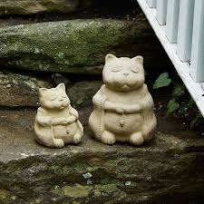 cat garden statue zen cat garden sculpture zen garden praying sculpture