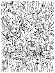 Animals Within Fish Coloring Pages For Adults