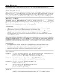 Ideas Of Resume Samples For Technical Support Jobs Fabulous Sample Unique
