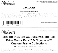 Michaels Coupon 40 Entire Purchase - WealthTop Coupons And ...