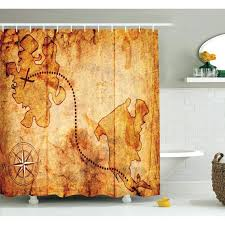 Curved Curtain Rod Kohls by Pirate Treasure Map Shower Curtain Shower Curtain Rod Kohls Shower