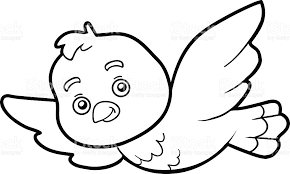 Coloring Book Page Bird Royalty Free Stock Vector Art