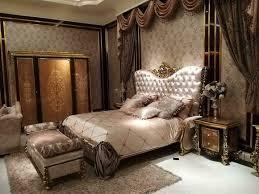 bett 2x nachttische 3tlg italienische möbel barock rokoko schlafzimmer set