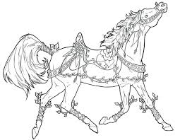 Full Image For Free Printable Coloring Pages Of Realistic Horses And Dogs