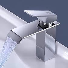 zree waschbeckenarmatur wasserfall wasserhahn badezimmer chrom waschbeckenarmatur mit kaltem warmem wasser verfügbar wassersparendes