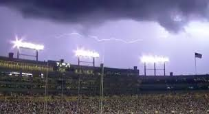 Mother Nature Stops Thursday Night Football With This Insane Lightning Storm