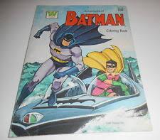 ADVENTURES OF BATMAN COLORING BOOK 1966 ADAM WEST VINTAGE WHITMAN NICE CONDITION
