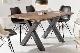 industrial esstisch montreal 140cm dunkle eichenoptik mit schwarzen x beinen konferenztisch tisch
