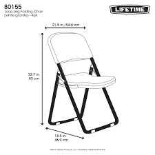 Lifetime Loop Leg Folding Chair, Set Of 4, White Granite, 80155 8 Folding Table And Chairs Brusjesblog Lifetime White Granite Shopsm Chair 80747 Classic Card Tables Tablecloth Black 42804 Commercial Grade 6foot Plastic Traing Seat Metal Frame Outdoor Safe Set Of 4 80155 Loop Leg Lawn Pack Anders Mandaue Foam Lancaster Seating 72 Round Heavy Duty