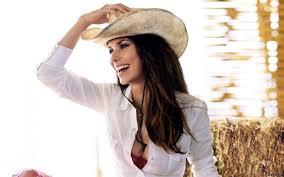 Shania Twain In Hot And Sexy Photos White Shirt Cap