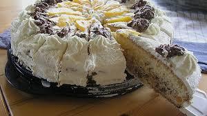 schoko crossie torte mit pfirsich