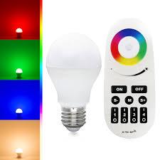 6w rgb white warm white led kit rgbw rgbww led bulb remote