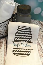 Personalized Mason Jar Flour Sack Towels
