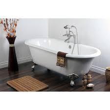 Delta Floor Mount Tub Filler Brushed Nickel by Clawfoot Tub Shower Diverter Faucet