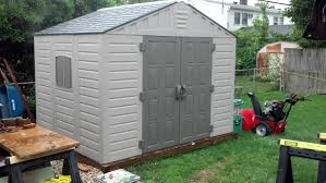 Rubbermaid Roughneck Shed Accessories by Vinyl Sheds Are Great Even In The Rain I Rate It 5 Stars Youtube