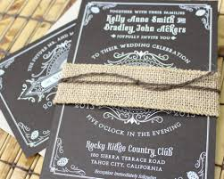 Country Wedding Invitations Rustic