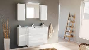 badblock emilia m design led spiegelschrank weiss hochglanz