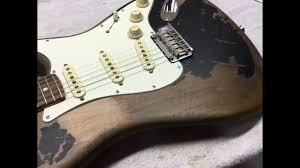 John Mayer Black 1 Fender Stratocaster Aged Relic Vintage Strat Guitar