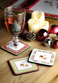 Spode Christmas Tree Wine Glasses by Spode Christmas Jubilee Coasters Set Of 6 Spode Uk
