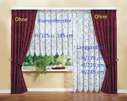 fertiggardinen stores farina blumenfenster langgardinen