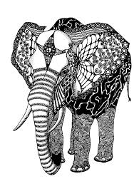 African Elephant Coloring Pages For Adults