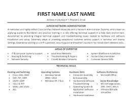 Sample System Administrator Resume Format For Fresher Fresh 9 Best Network Engineer