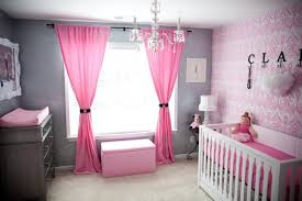Sweet Feminine Baby Girl Nursery Room Decor Ideas With Pink Beds Curtains Wallpapers 633x422
